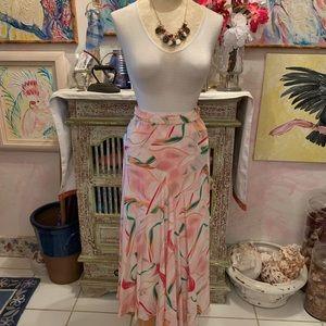 Silk maxi skirt colorful ! NWT !